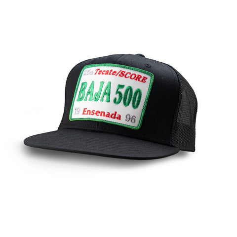 Dirt Co. 1996 Tecate SCORE Baja 500 Vintage Patch Hat (Black/ Black Mesh)