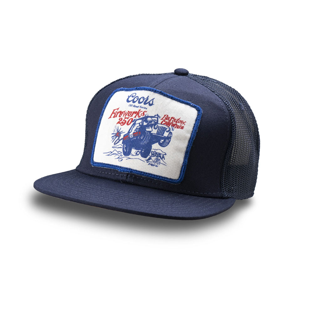 Dirt Co. HDRA Coors Off-Road Series Fireworks 250 Vintage Patch Hat (Navy/ Navy Mesh)