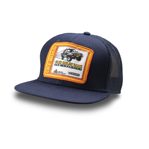 Dirt Co. HDRA Nissan Off-Road Closed Course Classic Glen Helen Vintage Patch Hat (Navy/ Navy Mesh)