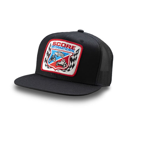 Dirt Co. SCORE International Vintage Patch Hat (Black/ Black Mesh)