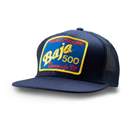 Dirt Co. 1992 Tecate SCORE Baja 500 Vintage Patch Hat (Navy/ Navy Mesh)