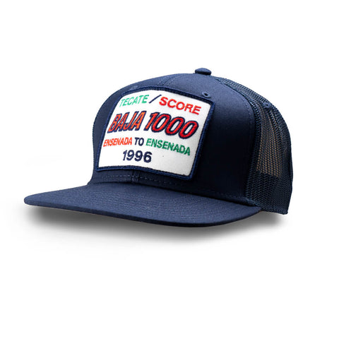Dirt Co. 1996 Tecate SCORE Baja 1000 Vintage Patch Hat (Navy/ Navy Mesh)