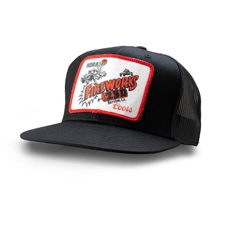 Dirt Co. Coors HDRA Fireworks 250 Vintage Patch Hat (Black/ Black Mesh)