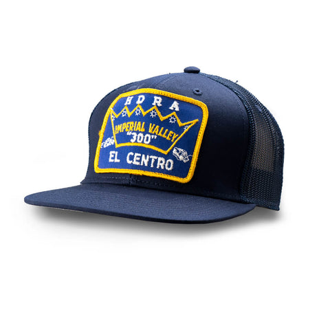 Dirt Co. HDRA Imperial Valley 300 Vintage Patch Hat (Navy/ Navy Mesh)