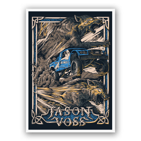 Jason Voss Running With Wolves Art Print