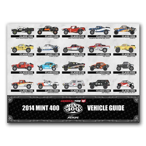 2014 Mint 400 Vehicle Guide