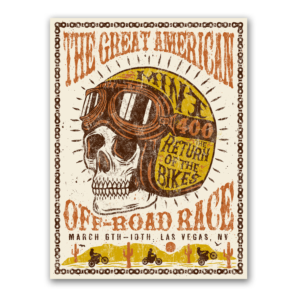 """Return of the Bikes"" Mint 400 Art Print (Limited Edition of 169)"