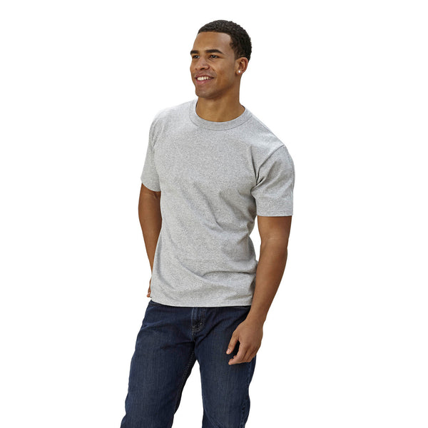 Adult Short Sleeve Crew neck Grey Mock Twist Classic Fit