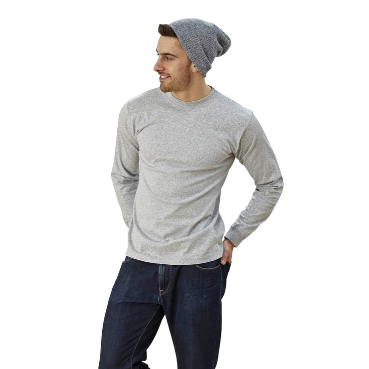 usa made men's crew neck long sleeve t-shirt