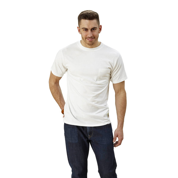 Adult Short Sleeve Crew w/Pocket Bamboo/Cotton