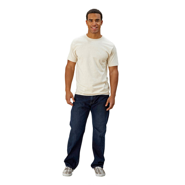 Adult Short Sleeve Yoke Front Slim Fit