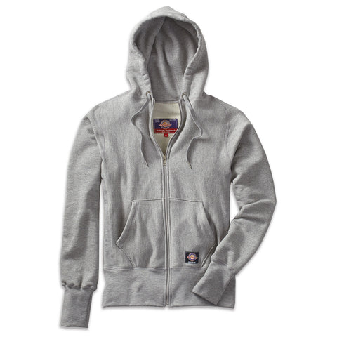 S Curve Full Zip Hoodie in Looped French Terry