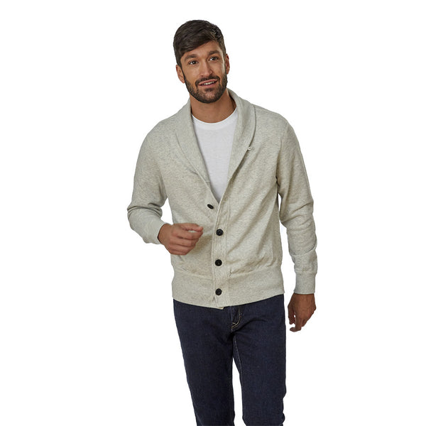 French Terry Shawl Collar Cardigan - Men's