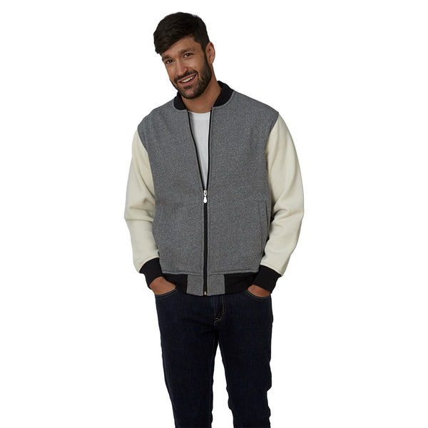 Fleece Two-Tone Varsity Jacket - Men's