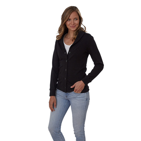 French Terry Shawl Collar Cardigan - Women's