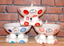 Spotty Dog Legged Bowl