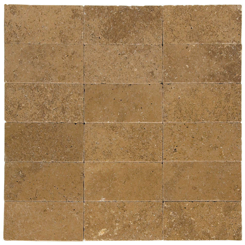 Noce Tumbled Travertine Pavers 6x12
