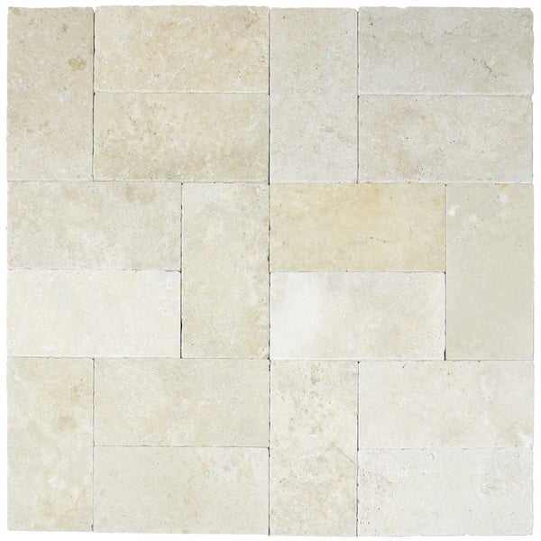 Toscana Tumbled Travertine Pavers 6x12