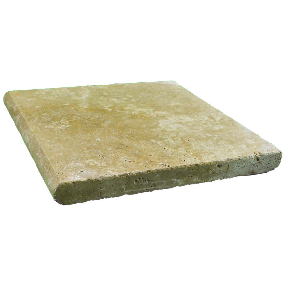 Roman Blend Bullnose Travertine Pool Copings 12x12x2
