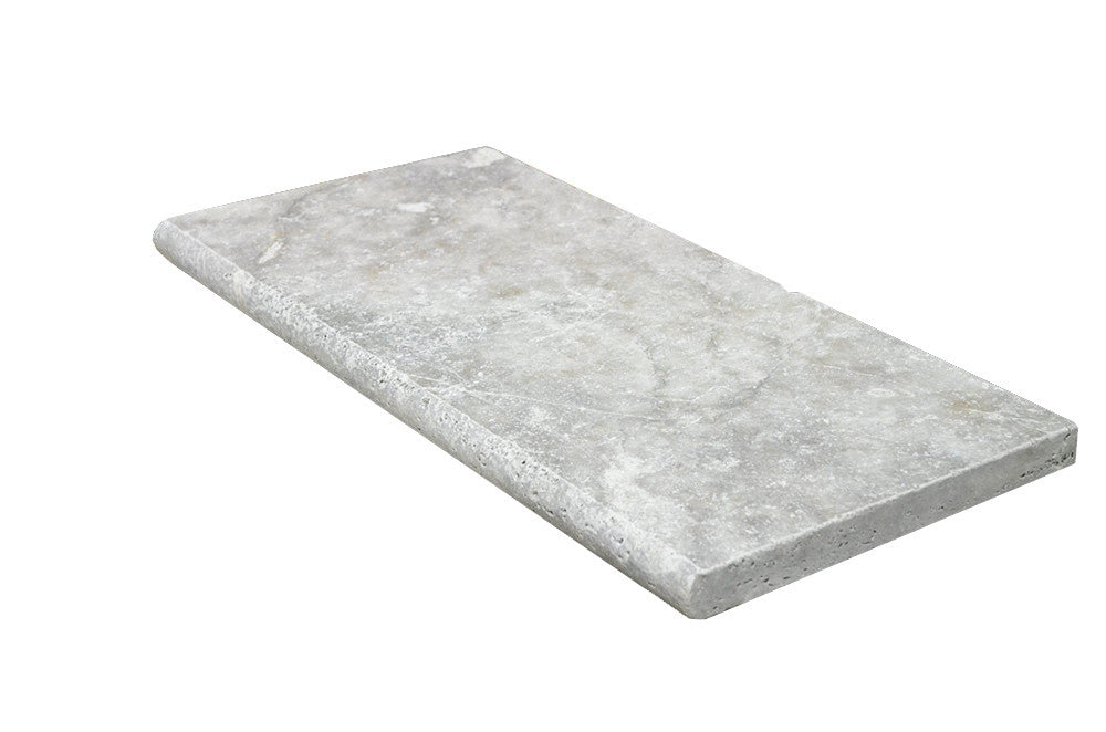 Silver Bullnose Travertine Pool Copings 16x24