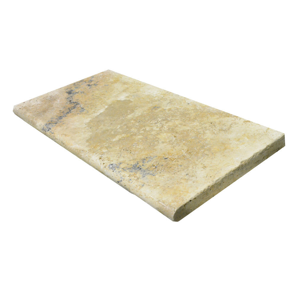 Country Classic Bullnose Travertine Pool Coping 16x24