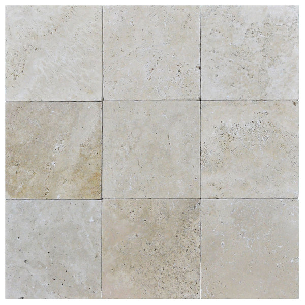 Toscana Tumbled Travertine Pavers 8x8