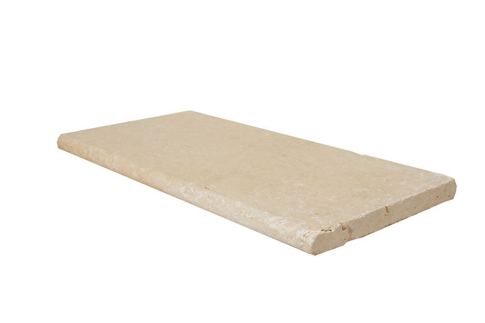 Ivory Bullnose Travertine Pool Copings 16x24