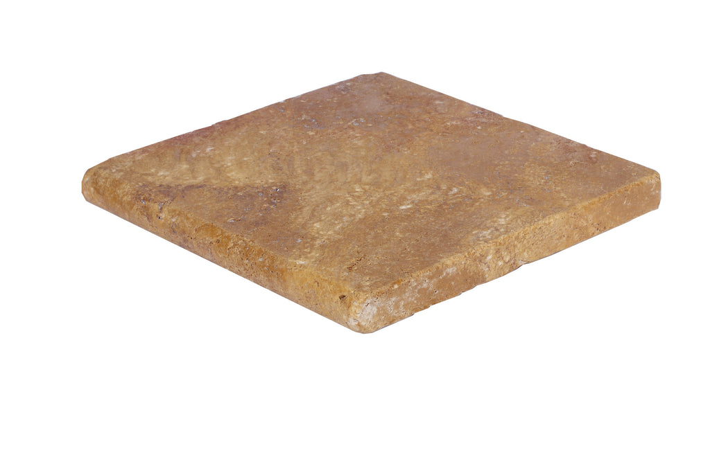 Gold Bullnose Travertine Pool Copings 12x12