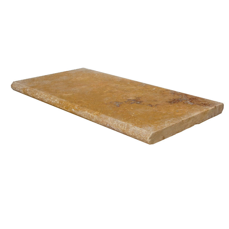 Gold Bullnose Travertine Pool Copings 16x24