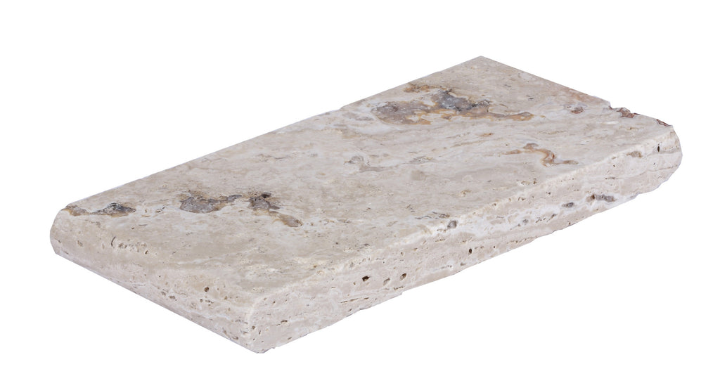 Leonardo Bullnose Travertine Pool Copings 6x12