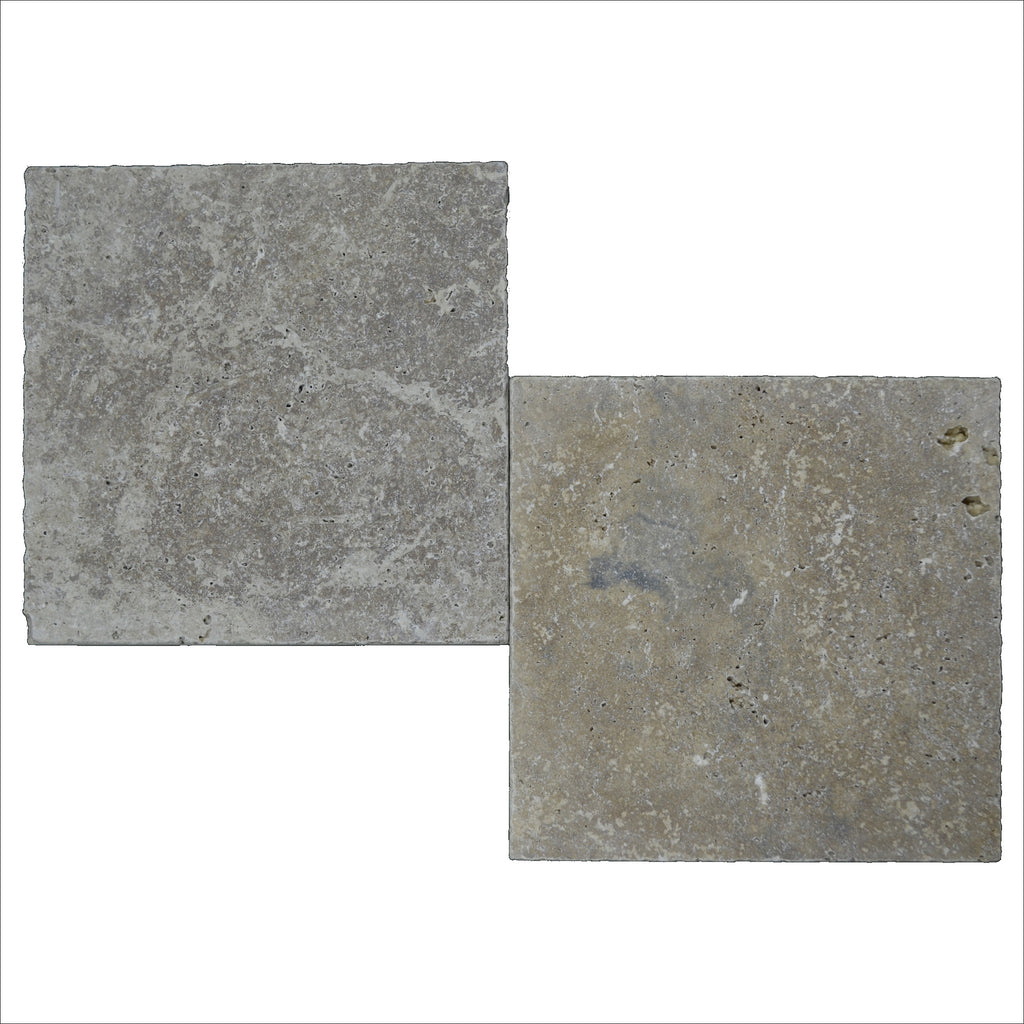 Noce Tumbled Travertine Pavers 8x8