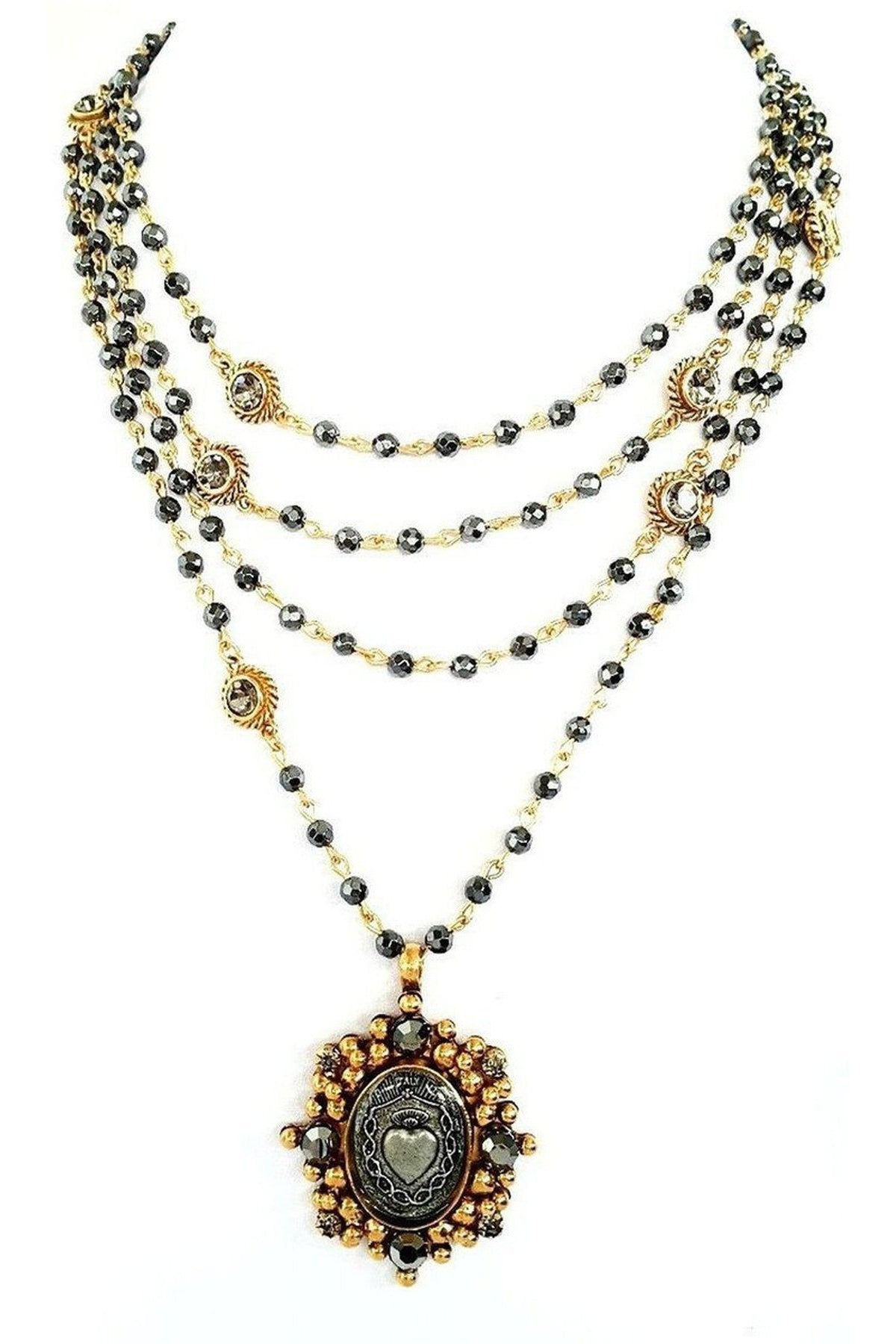 VSA Designs Necklace Exclusive Magdalena Sacred Heart XVMLOSH Gold ...