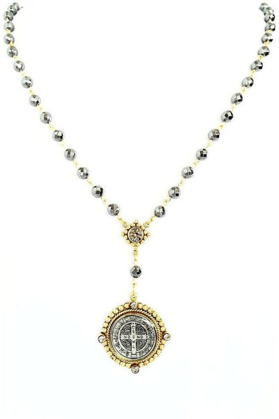 VSA Designs Necklace Exclusive Luxe San Benito Rosary Gold