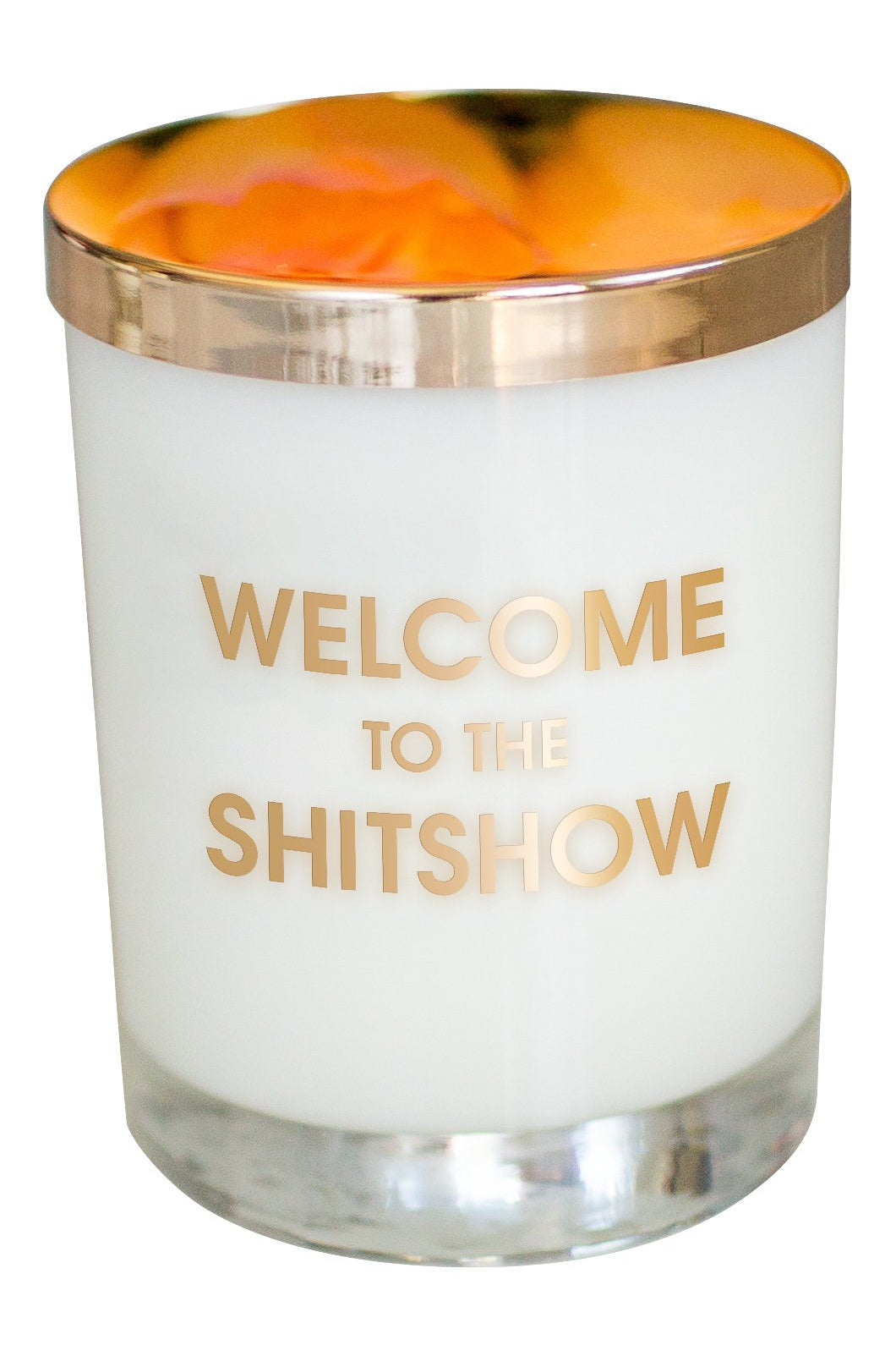 Beige Chez Gagne Welcome to the Shitshow Candle