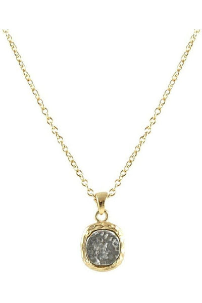Tat2 Gold Pavia Coin & Frame Necklace