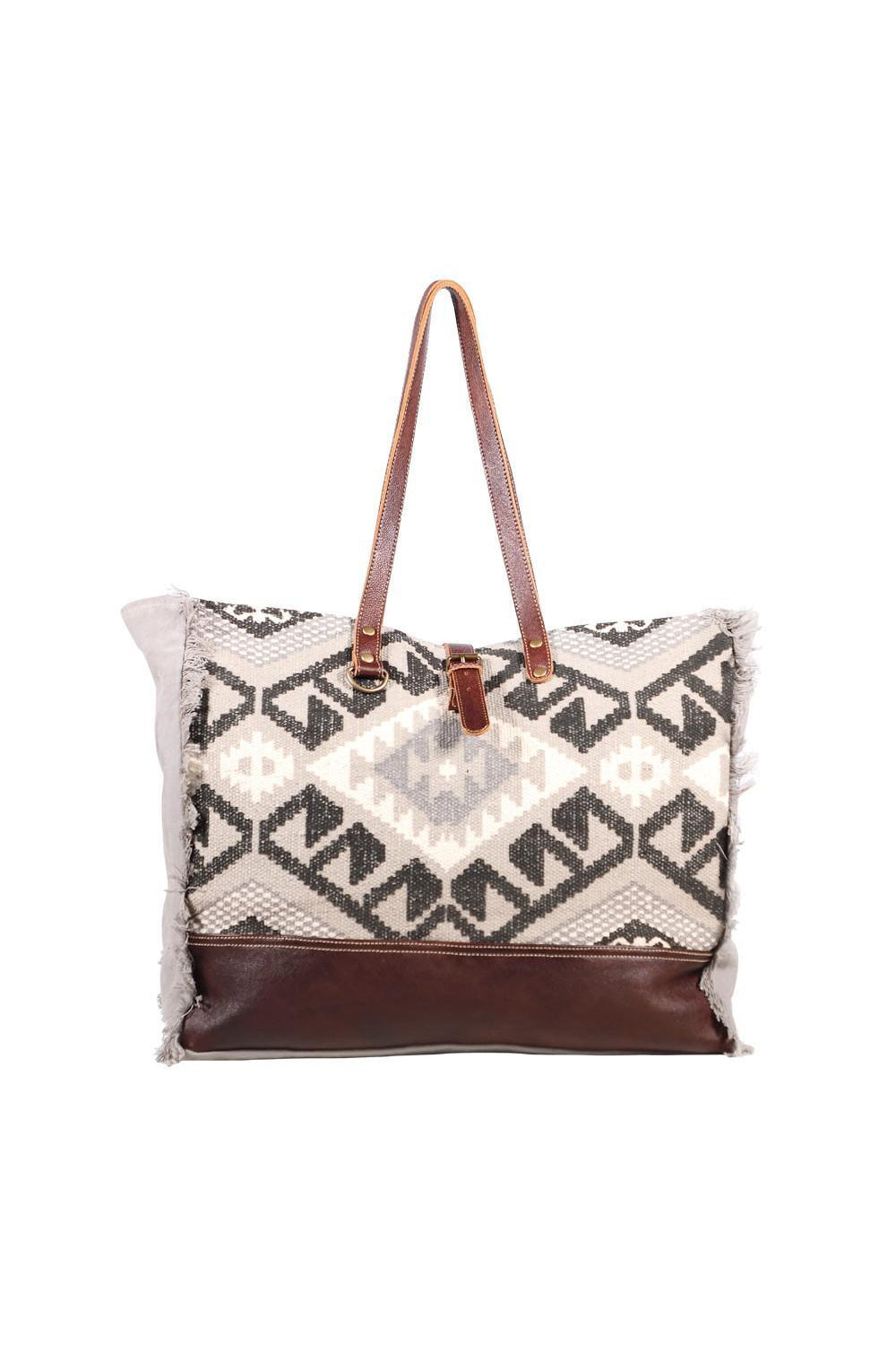 Antique White Rugged Style West Large Tote Bag
