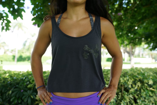 Originals Blacked Out Flowy Tank