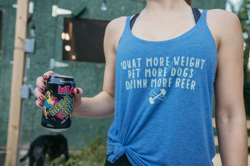Squat. Pet. Drink. Flowy Tank