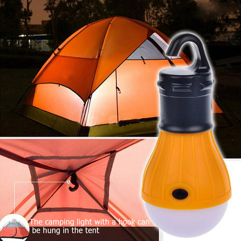 "A ""Happy Camper"" Hanging Camping Tent LED Bulb Soft Light"