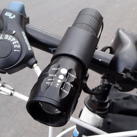 Bright 3 Mode Bicycle Q5 LED 2000 Lumens Light Torch + Torch Holder
