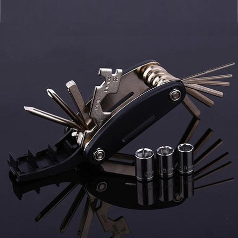 Portable and Easy to Store 15-in-1 Bicycle Multi-function Tool Kit