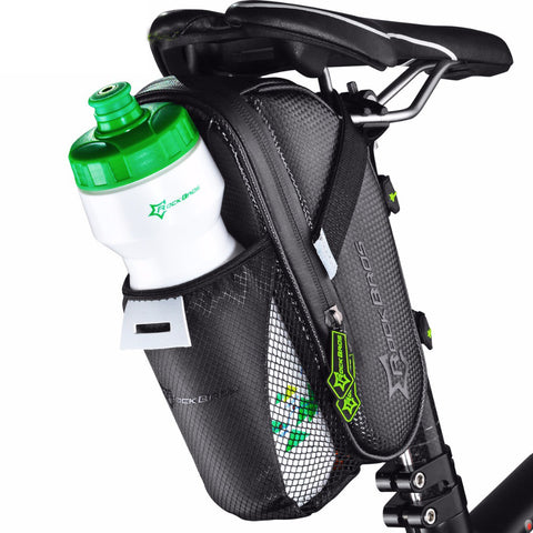 40% OFF SALE Waterproof Bicycle Saddle Bag With Water Bottle Pocket