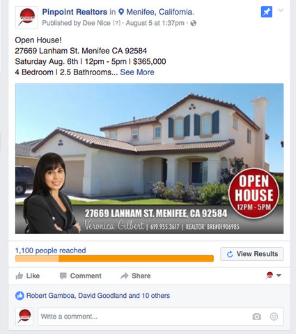 Open House Facebook Ad Only