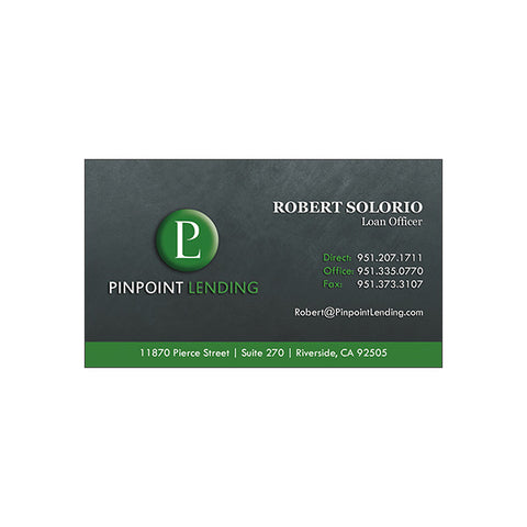 Standard Pinpoint Lending Business Card