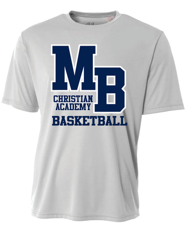 Basketball silver Dri-fit shirt