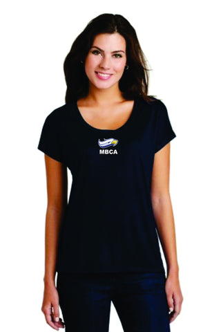 District Made® Ladies Drapey Dolman Tee