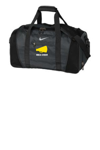 Nike duffel bag with cheer logo