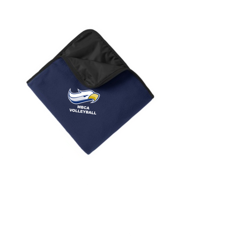 Port Authority® Fleece & Poly Travel Blanket - Embroidered
