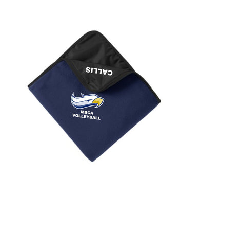 Port Authority® Fleece & Poly Travel Blanket - Embroidered with name