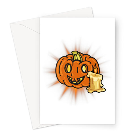 Pumpkin Light Greeting Card